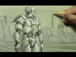 Drawn amour futuristic