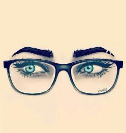 Drawn glasses geek