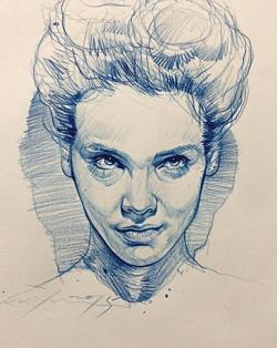 Drawn portrait creative character