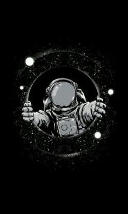 Drawn astronaut