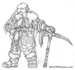 Drawn dwarf hobbit