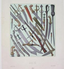 Drawn axe mughal