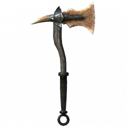 Drawn axe skyrim one handed