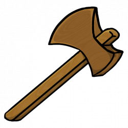 Drawn axe wooden