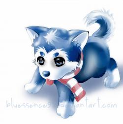 Drawn husky kawaii