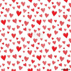 Drawn hearts background design