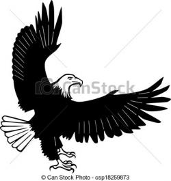 Bald Eagle clipart spread wing