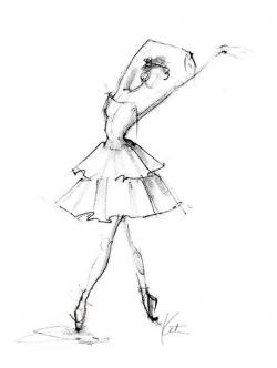 Drawn ballet classical dancer