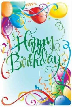Drawn balloon birthday wishes