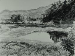 Drawn pond