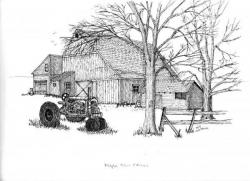 Drawn farm farmland