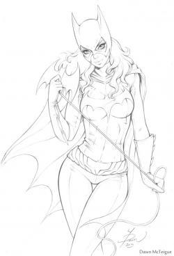 Drawn batgirl