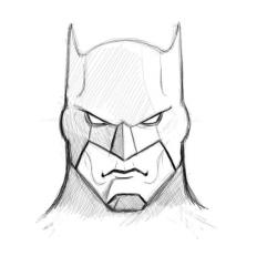Drawn pice batman