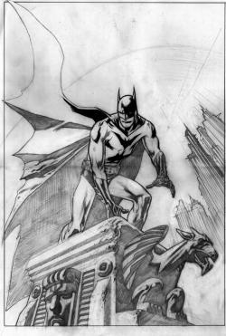 Drawn batman gargoyle drawing