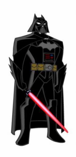 Drawn darth vader epic batman