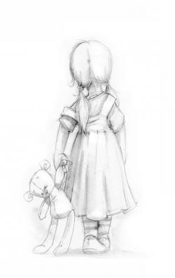 Drawn teddy bear