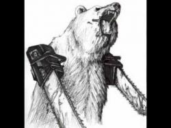 Drawn bear chainsaw arm