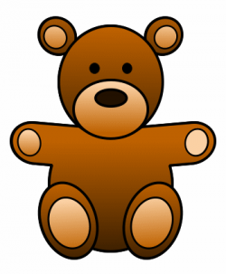 Teddy clipart brown objects