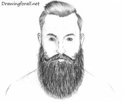 Drawn man beard drawing