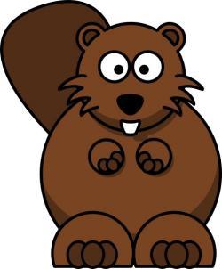 Beaver clipart vector