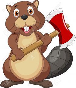 Beaver clipart funny