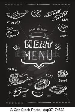 Drawn beef pork meat