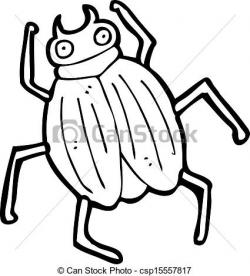 Drawn beetles cartoon