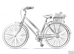 Drawn pushbike pencil drawing