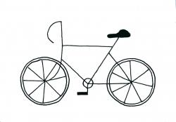 Drawn pushbike hand drawn