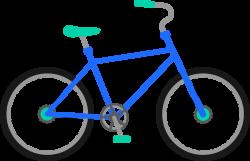 Drawn pushbike animated