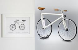 Drawn bike bycicle