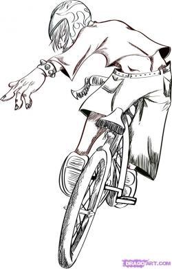 Drawn pushbike bmx bike