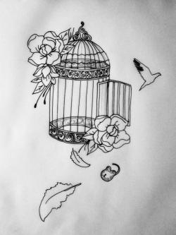 Drawn birdcage escape