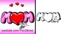 Drawn lollipop mom