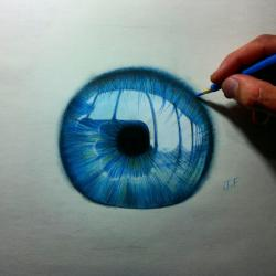 Drawn blue eyes