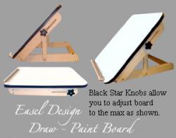 Drawn planks easel