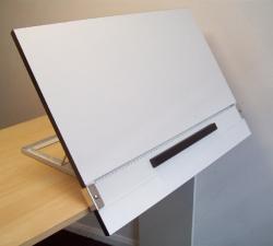 Drawn planks portable art studio