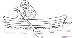 Drawn oat canoe