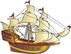 Pirates Of The Caribbean clipart tall ship