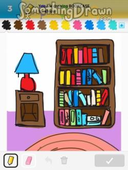 Drawn bookcase