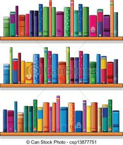 Bookcase clipart bibliotheque