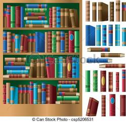 Bookcase clipart book spine