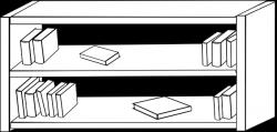 Shelf clipart black and white