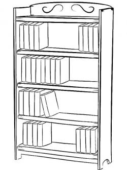 Drawn bookcase shelf