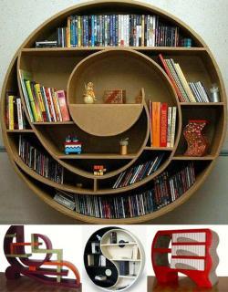 Drawn bookcase strange
