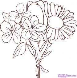 Drawn elower spring flower