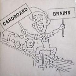 Drawn brains cardboard