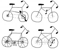Drawn pushbike road bike