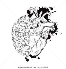 Drawn brains half