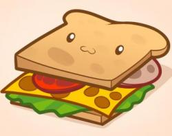 Drawn sandwich kawaii